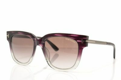 ce97a70274517 NEW TOM FORD TRACY TF436 83T Violet Stripe-Smoke Fade-Purple Gradient 53mm