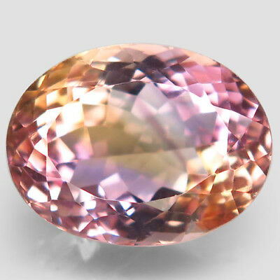 15.63ct.Glowing Gem! 100%Natural Bi Color Ametrine Unheated 17x13mm.AAA Nr!