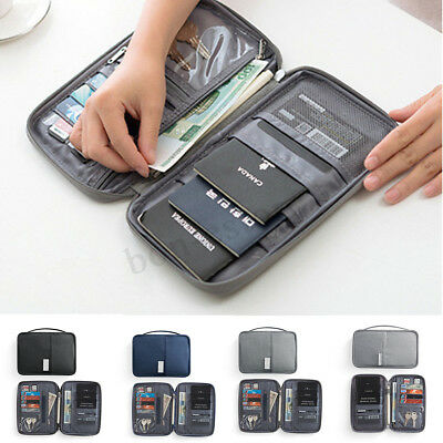 RFID Blocking Travel Card Storage Bag Passport Document Wallet Organizer Holder