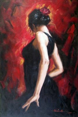 ZOPT112 100% hand painted abstract fancy dance girl ART OIL PAINTING ON CANVAS