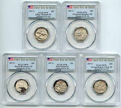 2017 S National Parks Quarter Set Enhanced PCGS SP69 First Day of Issue