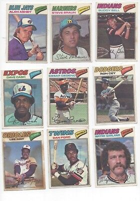 1977 Topps Cloth Stickers (9)  Ashby. May, Bell, Cedeno, Cey, Garland, Ford +