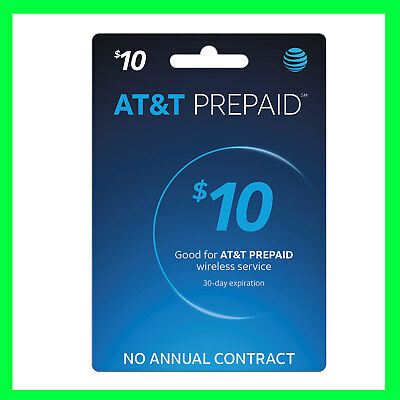 AT&T Prepaid Refill (Formerly GoPhone) $10 Refill Top-up Card
