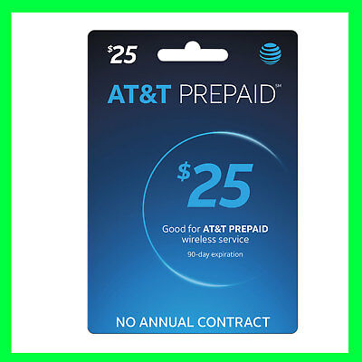 AT&T Prepaid Refill (Formerly GoPhone) $25 Refill Top-up Card
