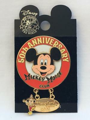 Disney Parks Disneyland/DCA Mickey Mouse Club 50th Anniversary Dangle Pin LE1500