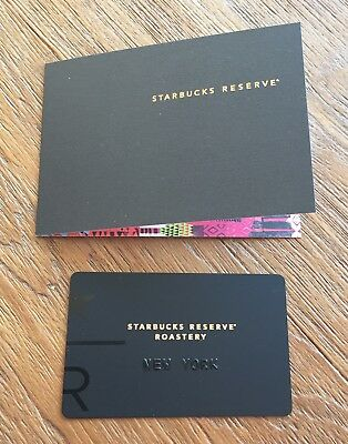 Starbucks card Reserve Roastery NEW YORK 2018 Black with Sleeve, FREE SHIPPING!
