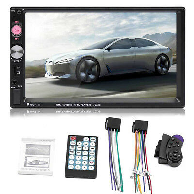 """7"""" HD 2DIN Bluetooth Touch Screen Car Stereo Radio MP5 Player with Backup Camera"""
