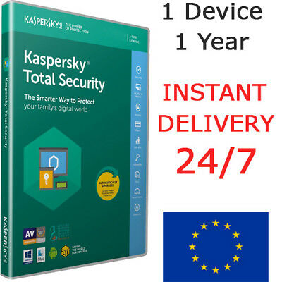 Kaspersky Total Security 2019 Antivirus (1 Device / 1 Year / EU) INSTANT DELIVER