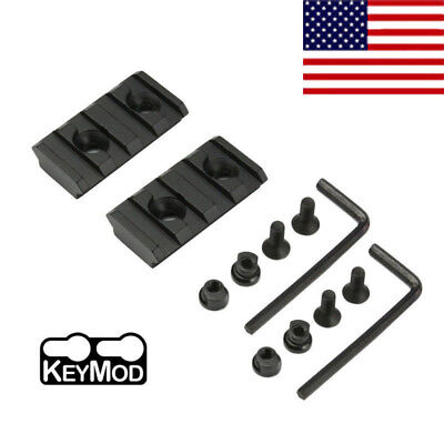 "2PCS Aluminum Keymod 4 Slots 1.5""Picatinny Weaver Rail Mount F Handguard Section"
