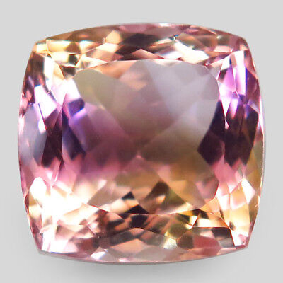 17.76ct.Twinkling Gem! 100%Natural Bi Color Ametrine Unheated Bolivia AAA Nr!.