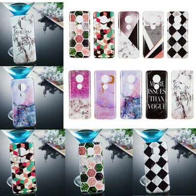 Soft TPU Silicone Case For Motorola Moto Z3 G5 G6 Plus Back Covers Skins Marble