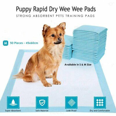 "50 17x24"" Disposable Dog Wee Wee Pet Puppy Training Fluff Under Pad Heavy Absorb"