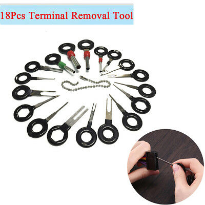 18x SUV Car Wire Terminal Removal Tool Connector Pin Extractor Puller Universal