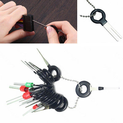 18x Auto Car Terminal Removal Release Tool Wiring Connector Pin Extractor Puller