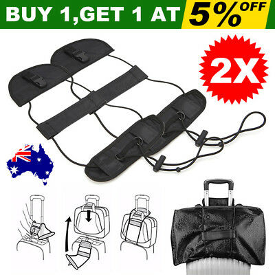 2X Add A Bag Strap Belt Travel Luggage Suitcase Adjustable Carry On Bungee YW