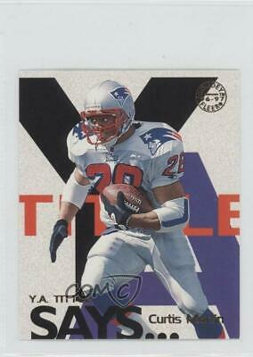 1997 Fleer Goudey YA Tittle Says #14 Curtis Martin New England Patriots Card