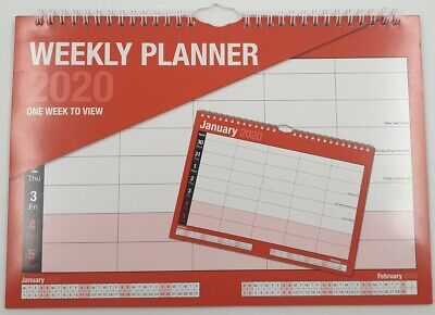 2019 A4 Weekly Planner / Calendar / Staff Rota / Organiser One Week to View