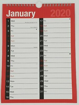 2020 A4 Month to Month Planner Calendar Family Organiser One Month to View  LMTV