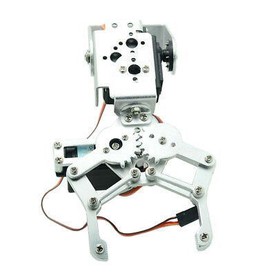 Metal 2 DOF Robot Mechanical Arm Claw Gripper Kit with Servo For