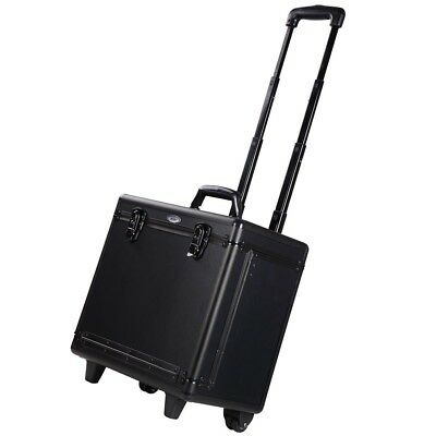 "AW Portable PVC 15x9x14"" Hair Makeup Train Case Baber Salon Clipper Trimmer"