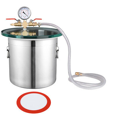 3 Gallon Stainless Steel Vacuum Chamber Degassing Urethanes Silicone Epoxies