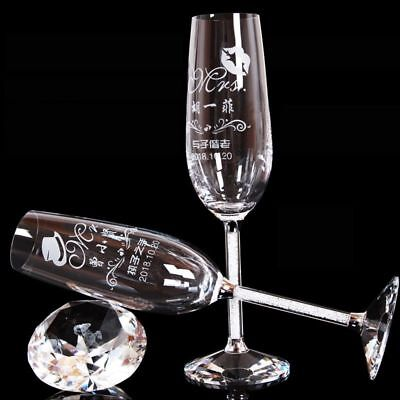 Toasting Glasses Personalized Flutes Crystalline Goblet Engrave Drinking Ware