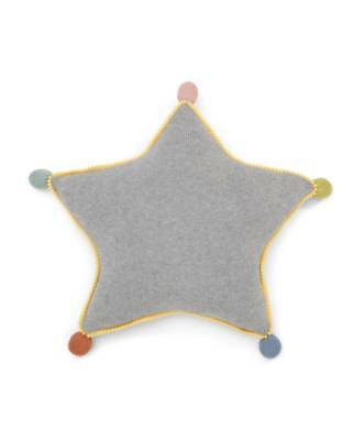 Mamas & Papas Grey Pom Pom Star Cushion