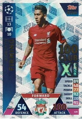 Topps Match Attax Champions League 2018/2019 100 Club XL Firmino 439