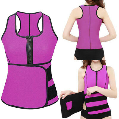 2019 Latest Neoprene Sauna Suit Sweat Vest Adjustable Waist Slim Trimmer Shaper