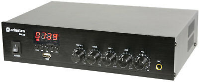 Adastra Dm-Series Mixer-Amp mit USB / Fm Bluetooth - DM25 Digital 100V 25W