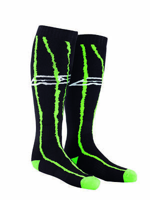 New Axo Adult Knee Length Black Green Socks Motocross Mx Enduro Trials Ktm Kx Yz