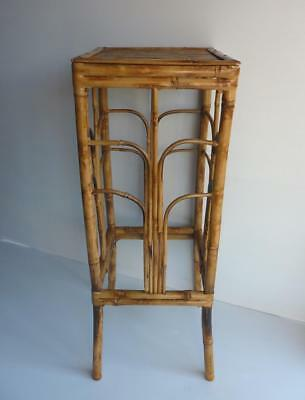 Vintage - Bamboo Plant Stand/Table  - Very Good Condition for age