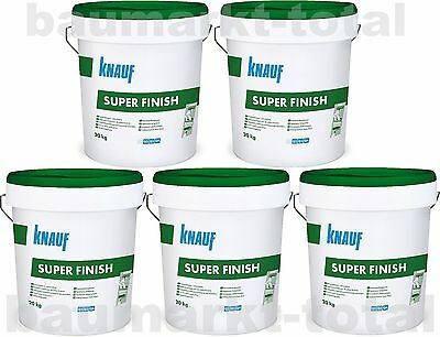 Knauf Super Finish 5x20kg Spachtelmasse für Trockenbau SHEETROCK Fugenspachtel