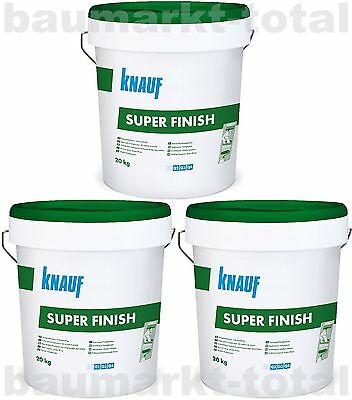 Knauf Super Finish 3x20kg Spachtelmasse für Trockenbau SHEETROCK Fugenspachtel
