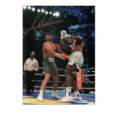Anthony Joshua Signed Boxing Photo: The Klitschko Uppercut Autographed Sports