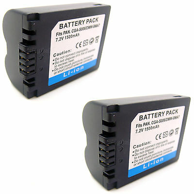 2x 7.2v Battery For PANASONIC BP-DC5 J BP-DC5 U CGA-S006 CGA-S006E CGA-S006E/1B