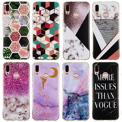 For Huawei P Smart 2019/Honor 10 Lite Slim Silicone Clear Painted TPU Case Cover