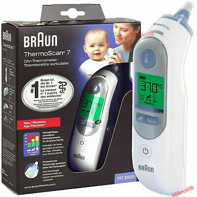 Braun ThermoScan 7 IRT6520 Baby, Adult Professional Digital Ear Thermometer NEW