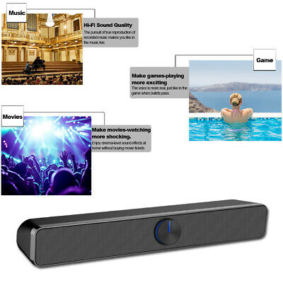 3D HiFi Surround Speakers Sound Bar System Soundbar Bass Subwoofer Home Speaker