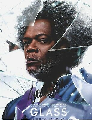 Samuel L Jackson Signed GLASS 10x8 Photo  AFTAL OnlineCOA