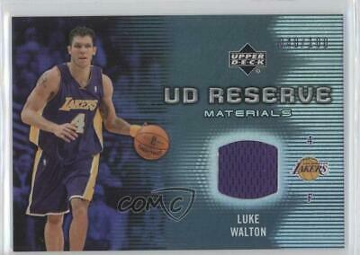 2006-07 UD Reserve Game Jersey #UD-LW Luke Walton Los Angeles Lakers Card