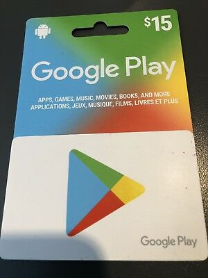 google play gift card $15 Brand New