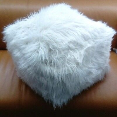 LUXURIOUS FAUX FUR CUBE Bean Bag - POLAR   CHOC. BROWN   Leopard ... 3d515fff2b051