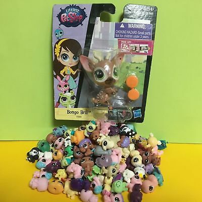 10pcs Littlest Pet Shop LPS Mini Baby Toy Send Random+Bongo Brill Deer Package S