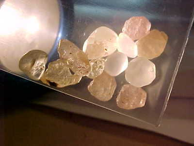 Natural No TREATMENT Peach to Yell/cl Montana Sapphire Gem Rough! 7.5cts! 12pcs!