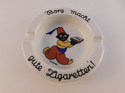 Vintage BORG CIGARETTES German Ashtray Franz Prause Nieder-Salzbrunn