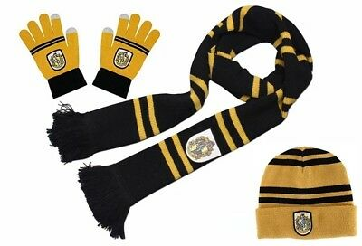 Harry Potter set bonnet gants atctiles écharpe poufsouffle adulte enfant ado 2db4ee26cad