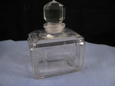 Perfume Scent Bottle Antique Glass Art Nouveau Baccarat Cologne Bath Storage Jar
