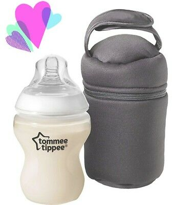 2 x Tommee Tippee Closer to Nature Insulated thermal bag Baby Bottle warmer