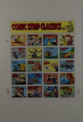 Us Scott 3000 Pane Of 20 Comic Strip Classics Stamps Sheet Of 32 Cents Face Mnh